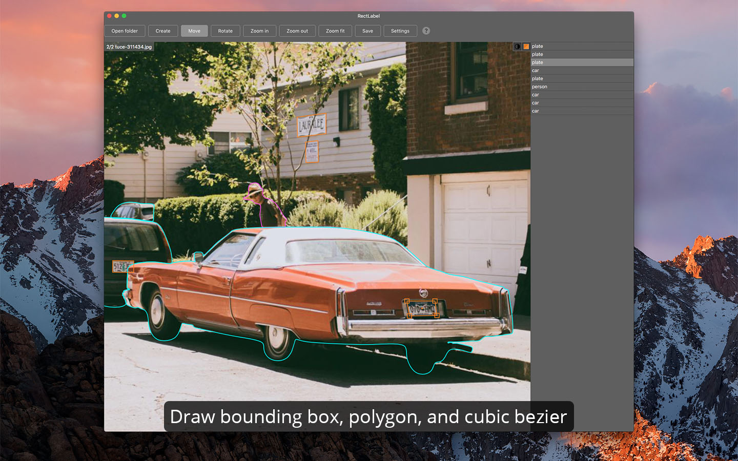 Drawing bounding box, polygon, and cubic bezier